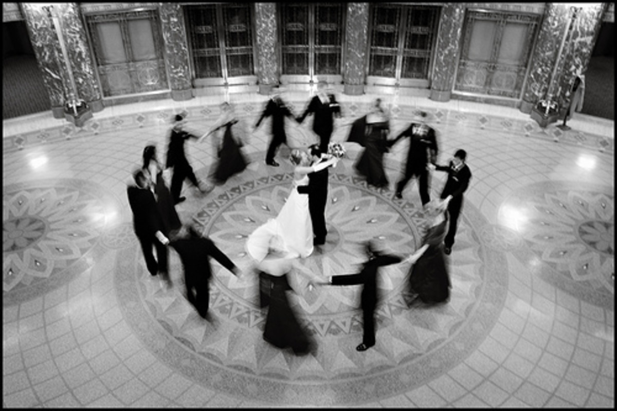 Dancing is an important part of Greek weddings.