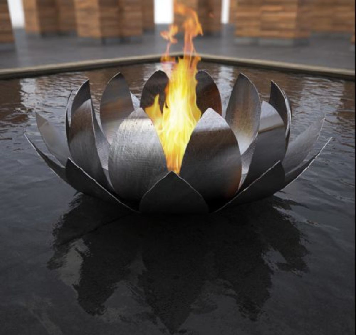 Floating Metal Sculpture Fire Pits