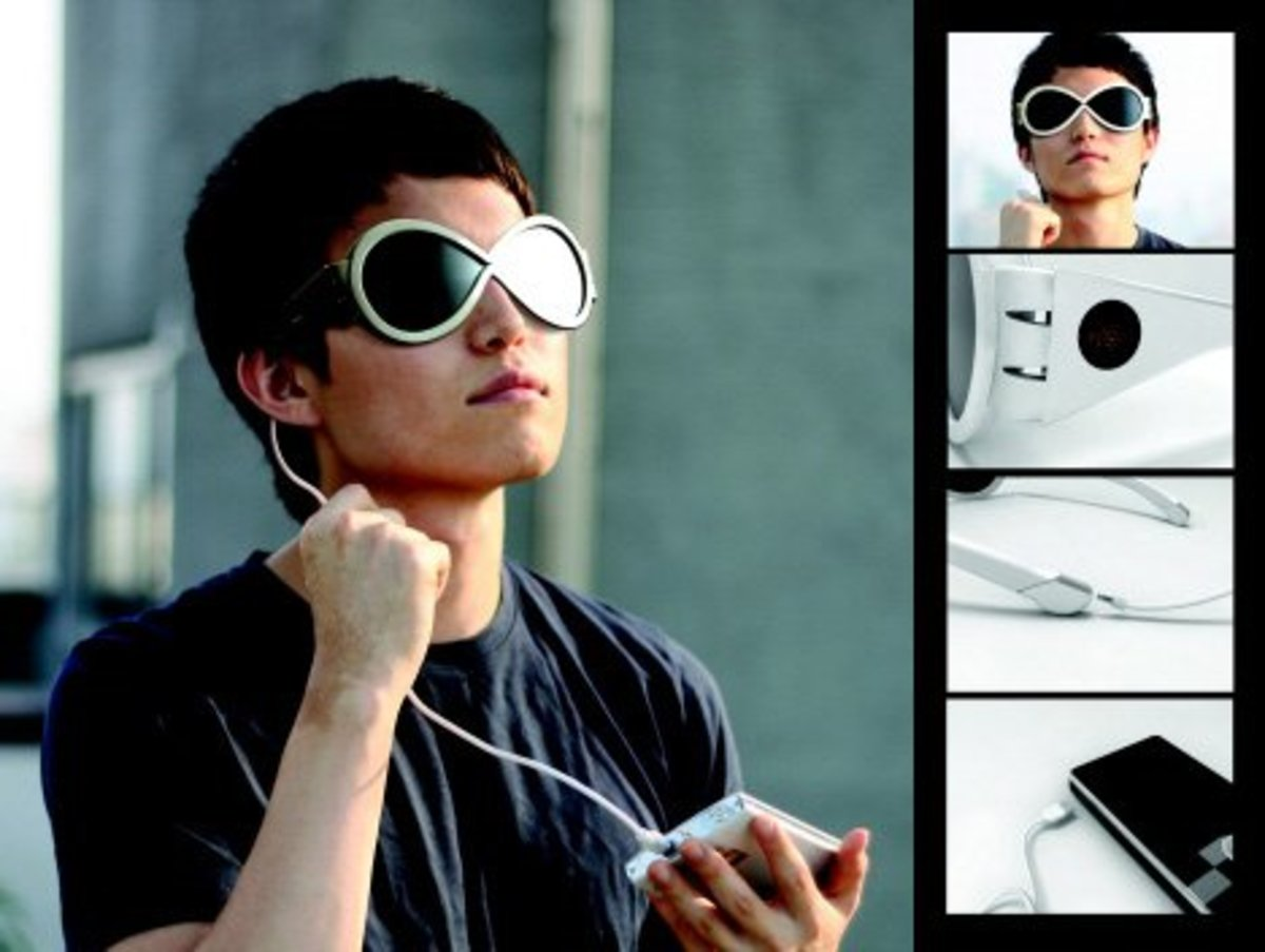 Solar Sunglasses - Charge your iPhone etc