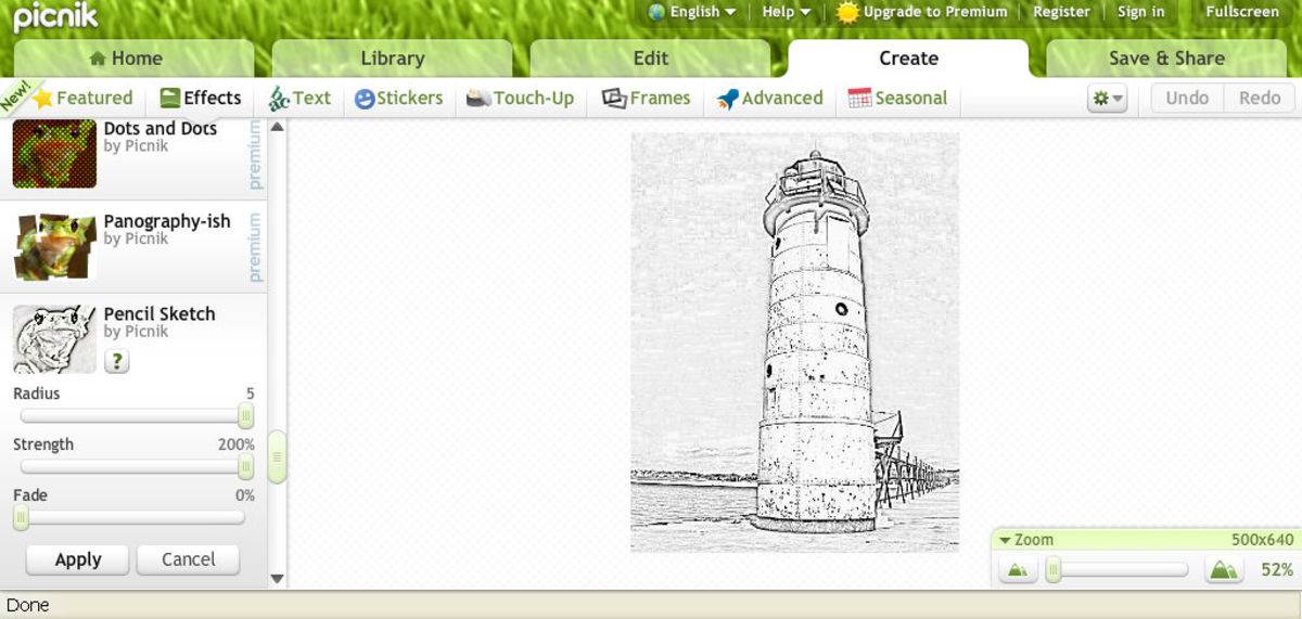 A Window Of Different Effects Will Appear On The Right Hand Side Screen As Shown Scroll Down List Until You Find Effect Called Pencil