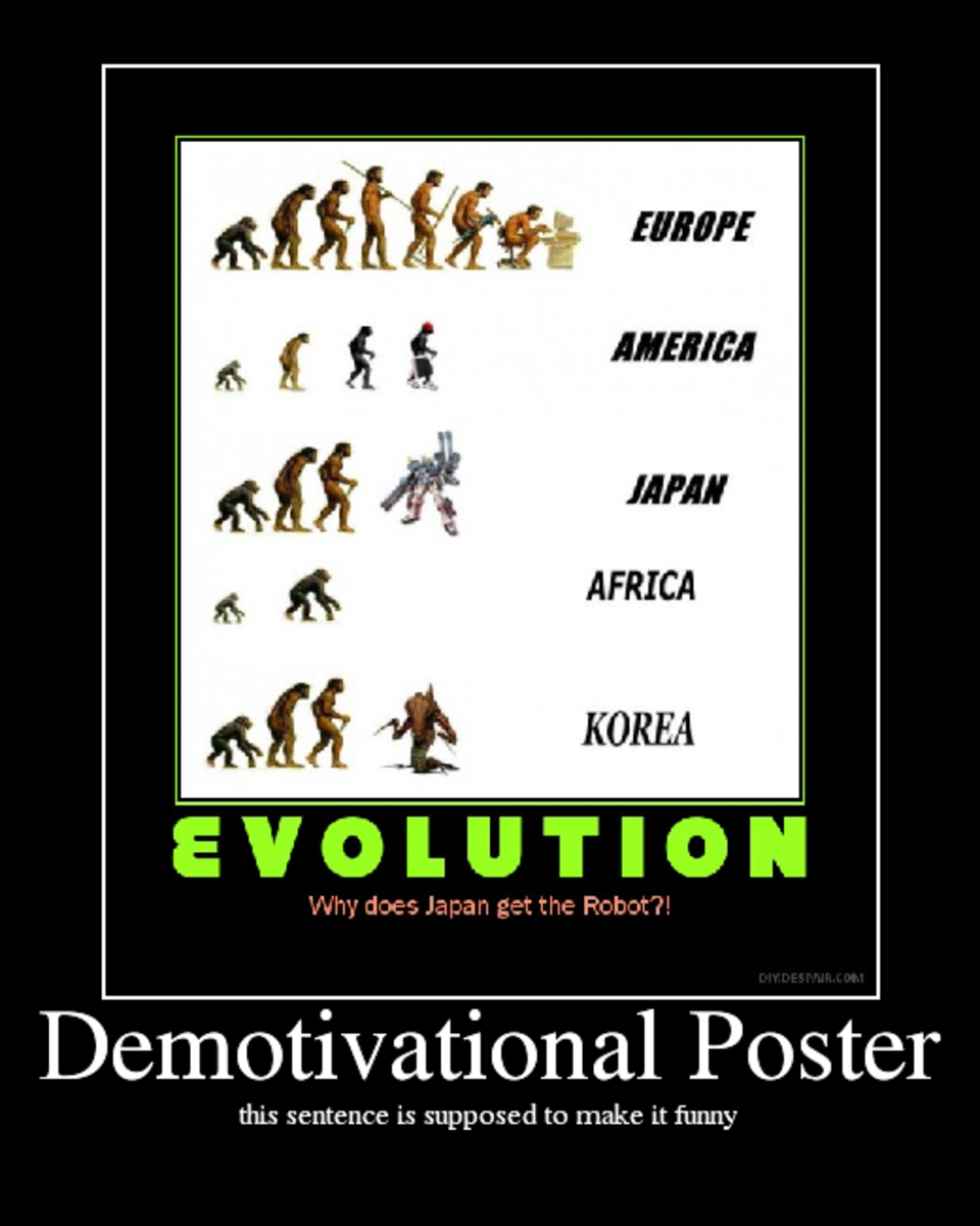 evolution, japan, animal, man, monkey, demotivational, posters, humor, jokes, comedy, funny, lol