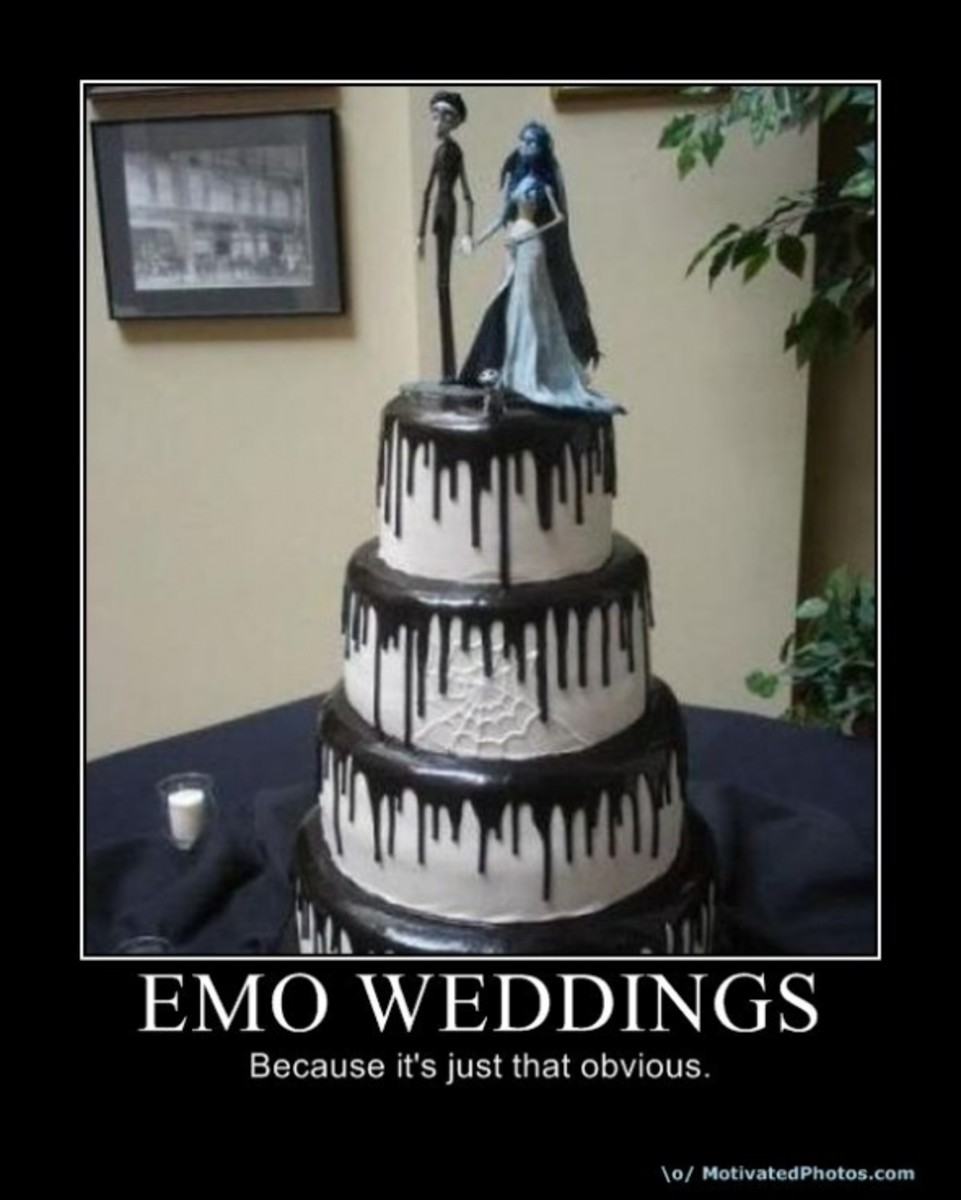 emo, wedding, demotivational, posters, humor, jokes, comedy, funny, lol
