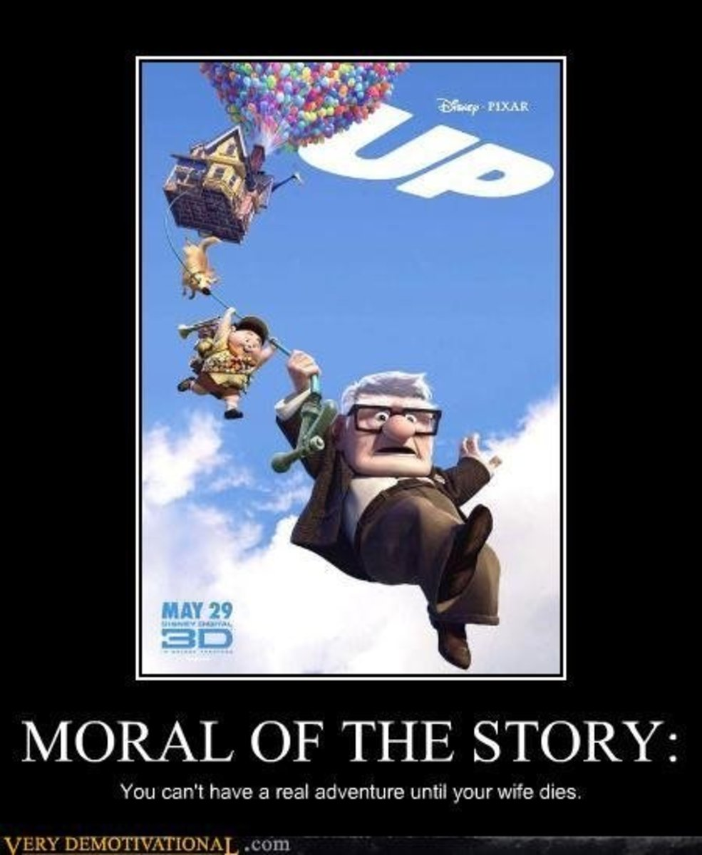 up, movie, demotivational, posters, humor, jokes, comedy, funny, lol