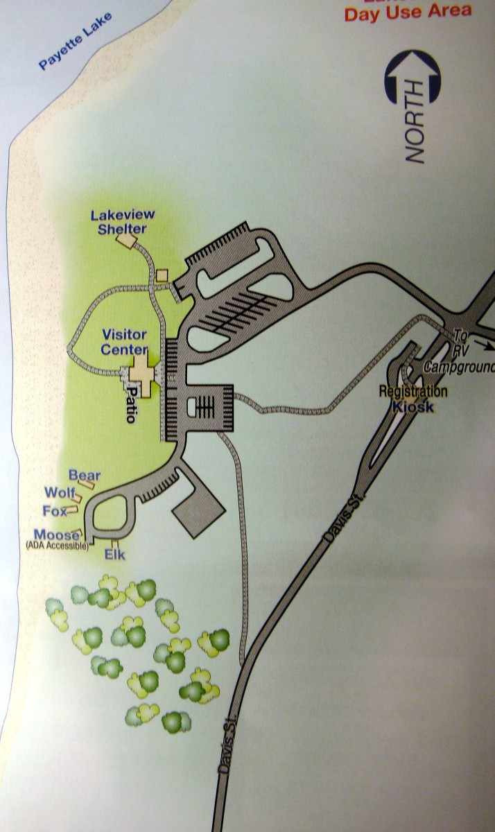 Day use area map.