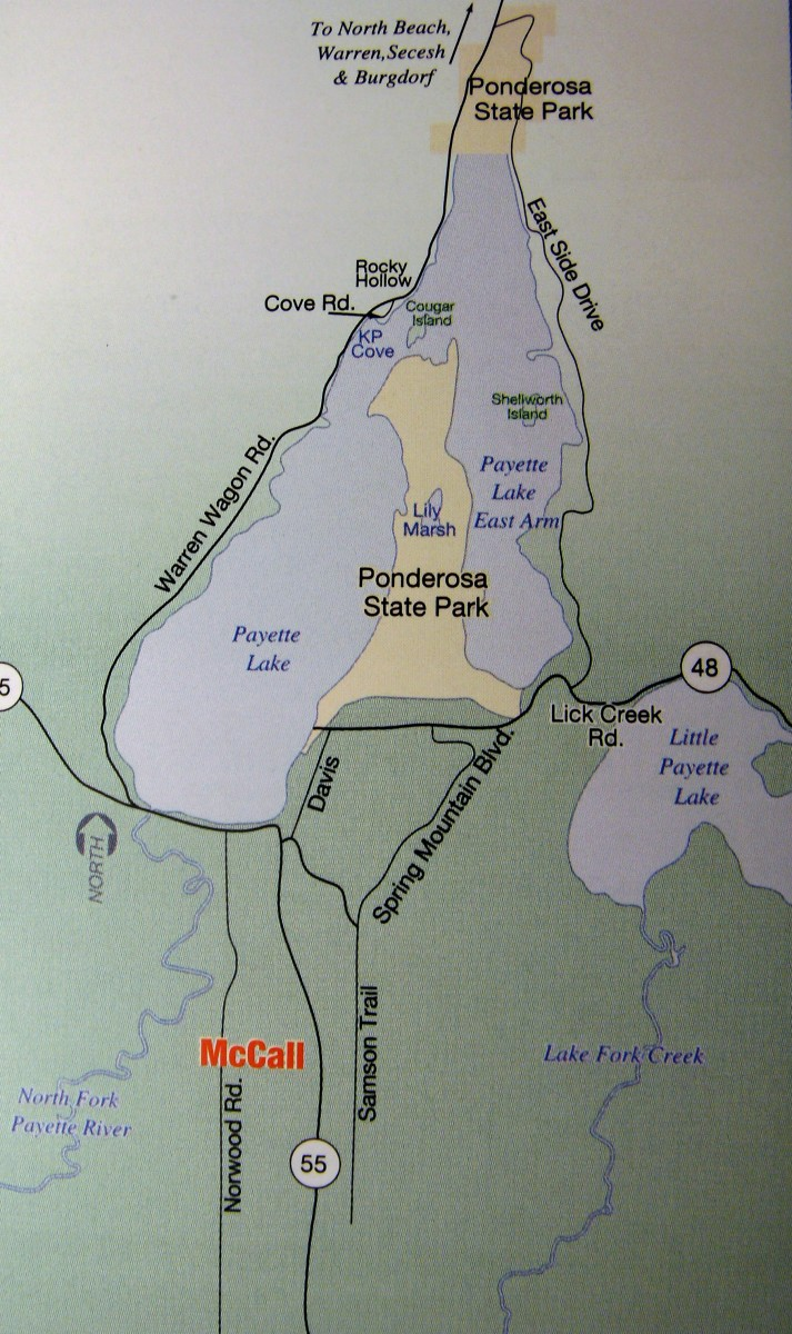 McCall to Ponderosa State Park
