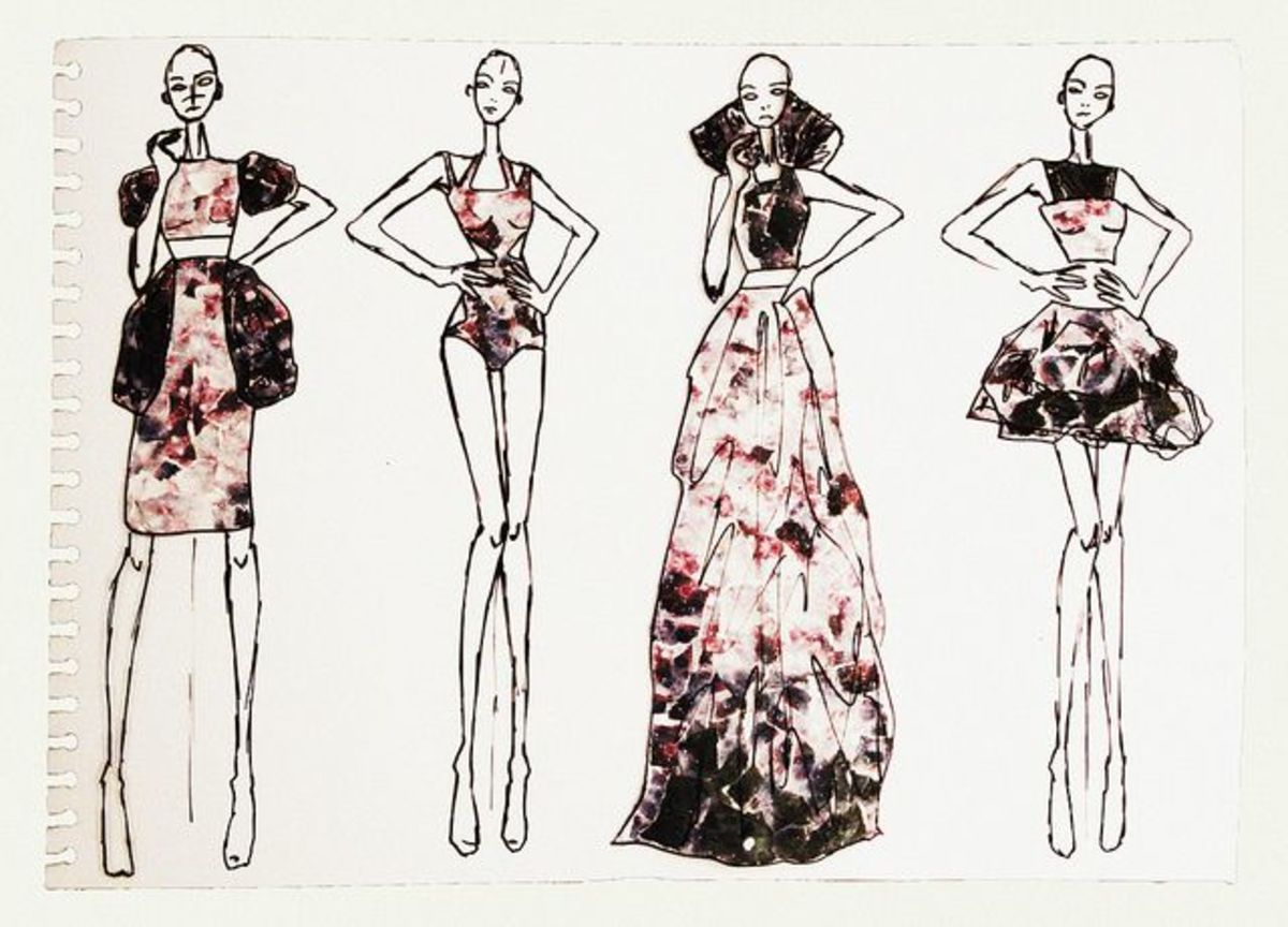 Fashion Design Sketches Tutorial I like the texture that has