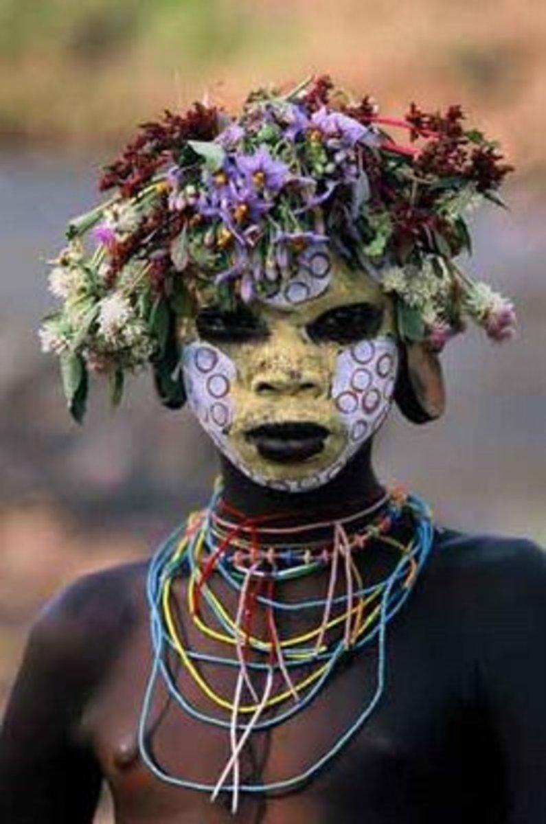 Omo tribal member. Photo by Hans Silvester
