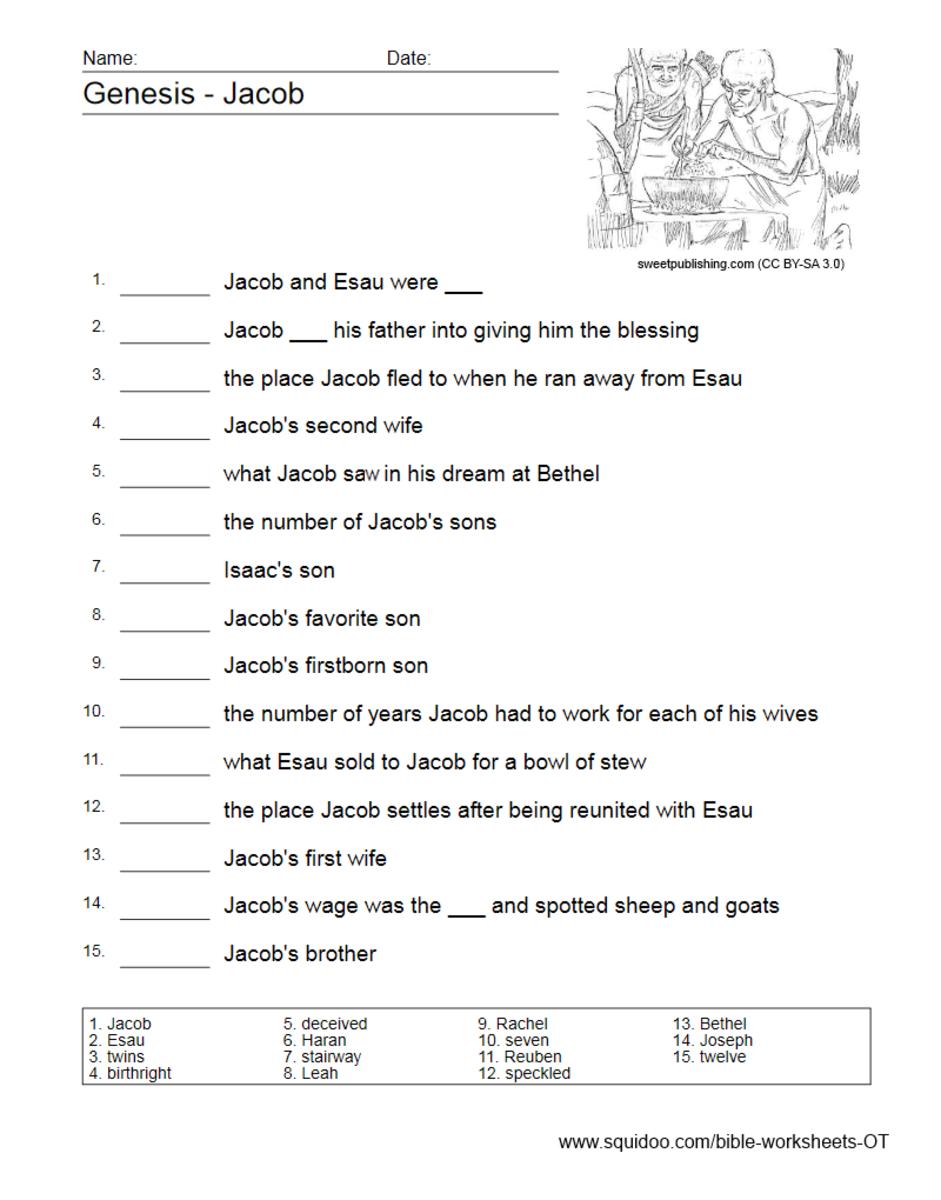 Old Testament Worksheets | HubPages