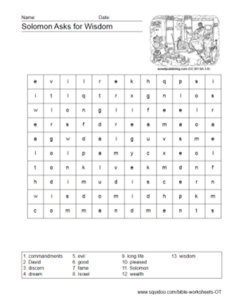 testament worksheets hubpages
