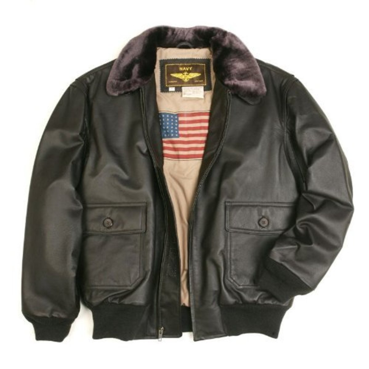 A traditional bomber jacket.