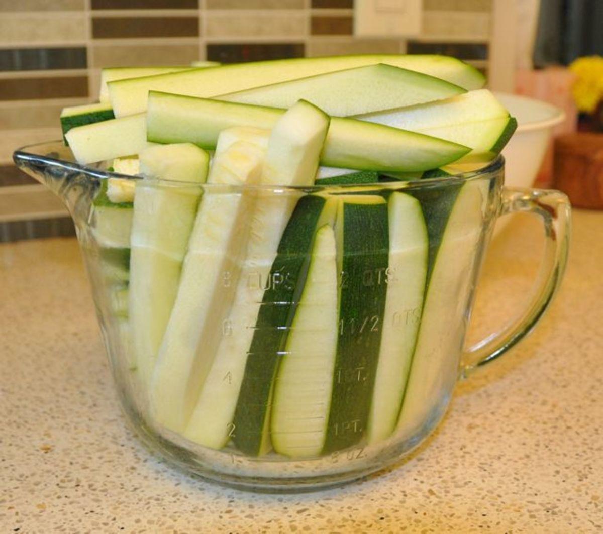 10 cups of zucchini.