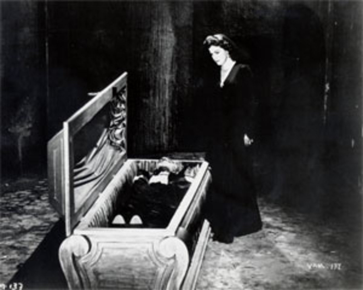 Vampire in a coffin