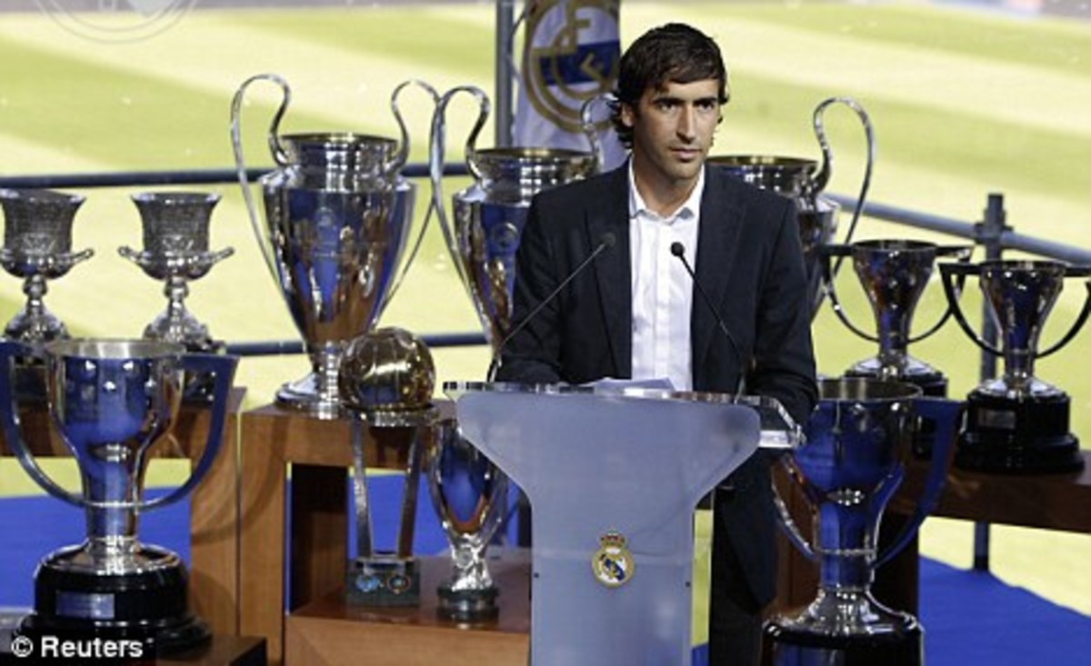 Raul surrounded by his trophies