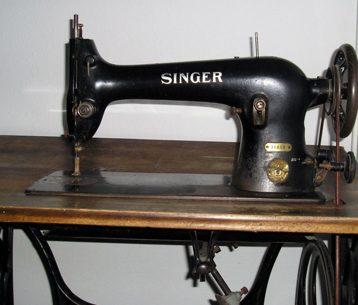 Singer sewing machine.