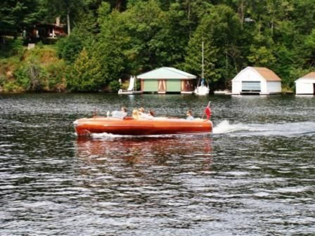 Boat in Rosseau