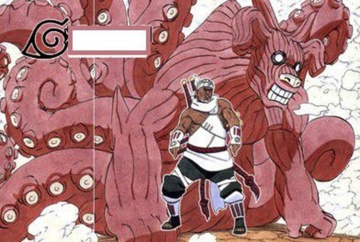 Eight-Tailed Ushi-Oni-like beast (sealed within Killer Bee of Kumogakure)