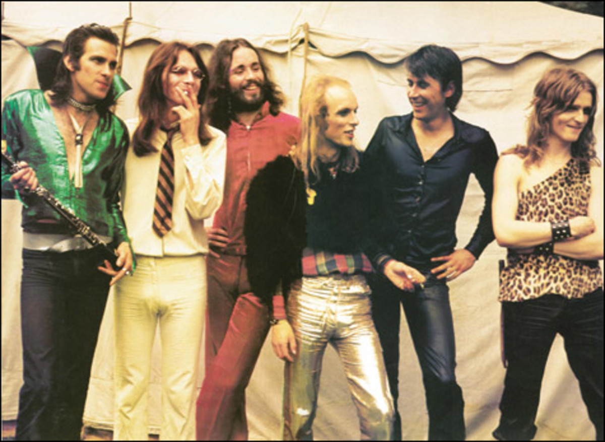 Roxy Music. Despite Brian Eno's over the top costumes, they were quite conservative