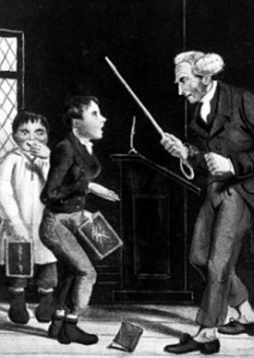 Caning, from victorianschool.wordpress.com