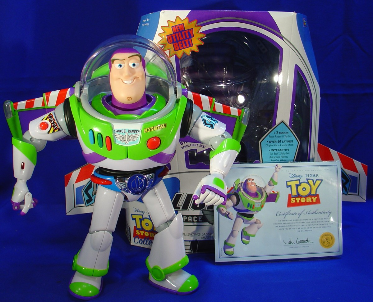 Buzz comes with a Certificate of Authenticity