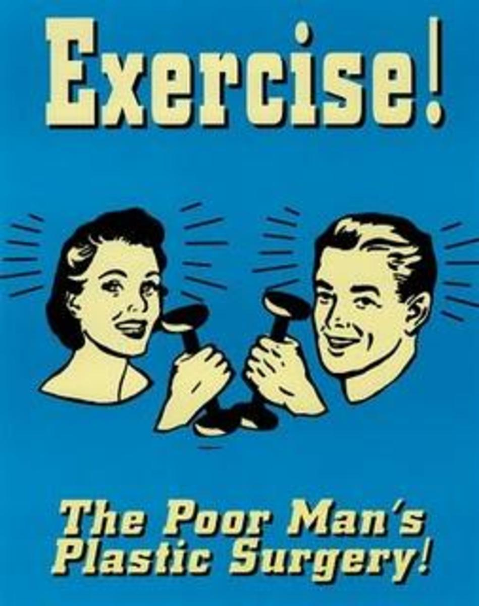Blue Poster - Exercise The Poor Man's Plastic Surgery