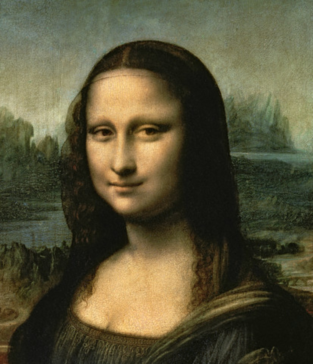 Fig. 4. Is beauty hidden in the numbers? Detail of Mona Lisa.
