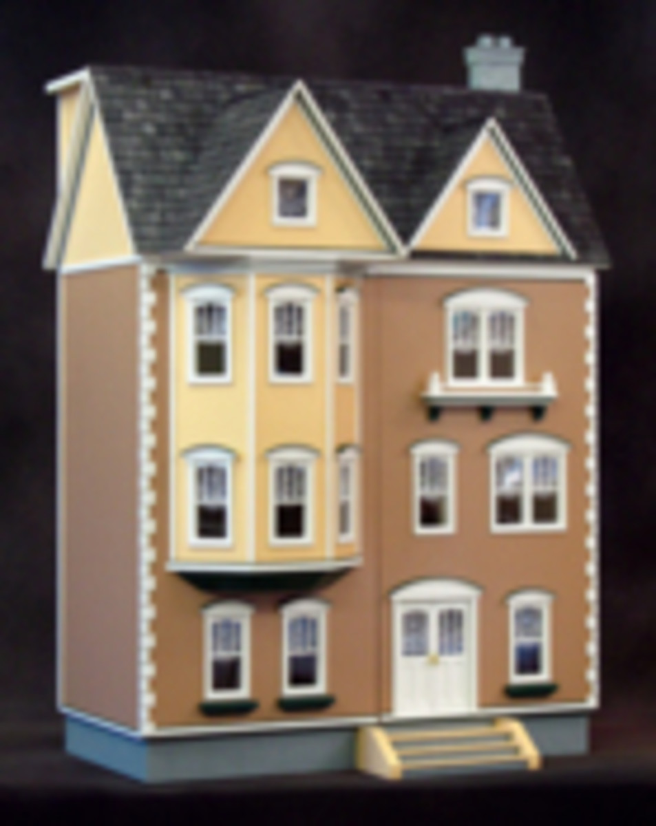 How to Dye Wooden Roof Shingles for Doll Houses