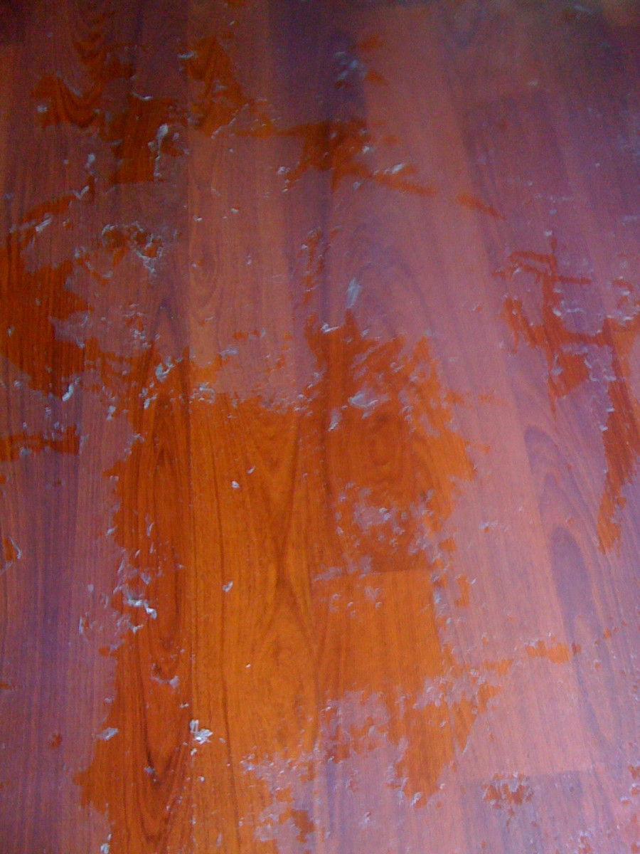 Wood Floor with build up from cleaning solution