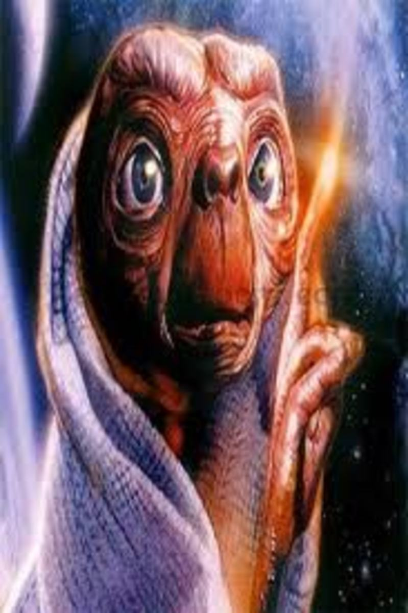 E.T. the Extra Terrestrial Coloring Pages Color Example