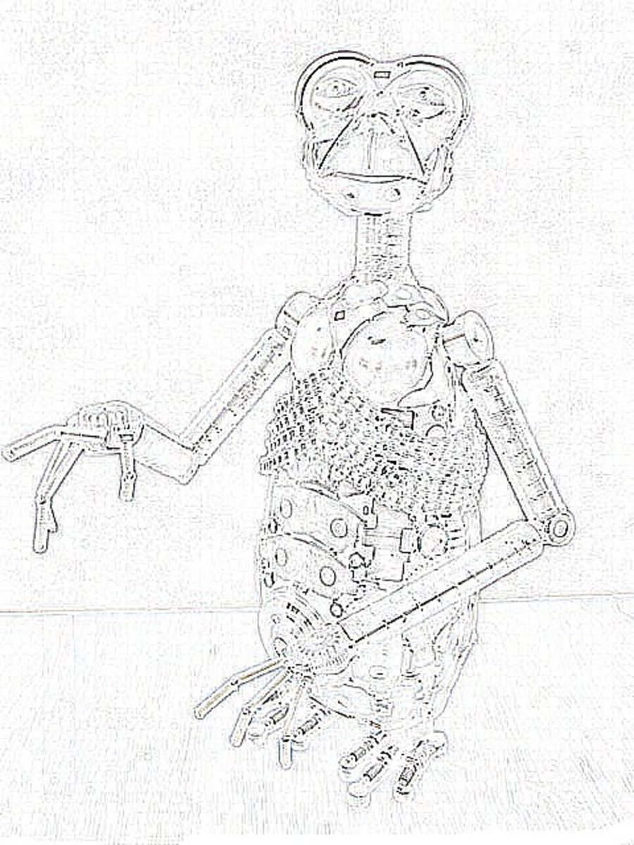 ET the Extraterrestrial Kids Coloring Pages of e.t. and Free Colouring Pictures to Print - E.T.