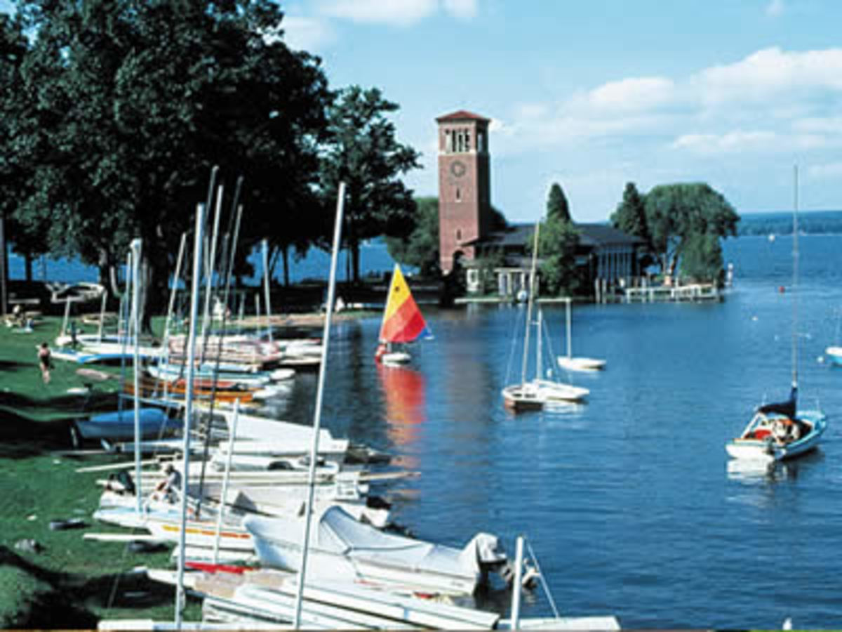 The Bell Tower at Chautauqua Institution on Chautauqua Lake