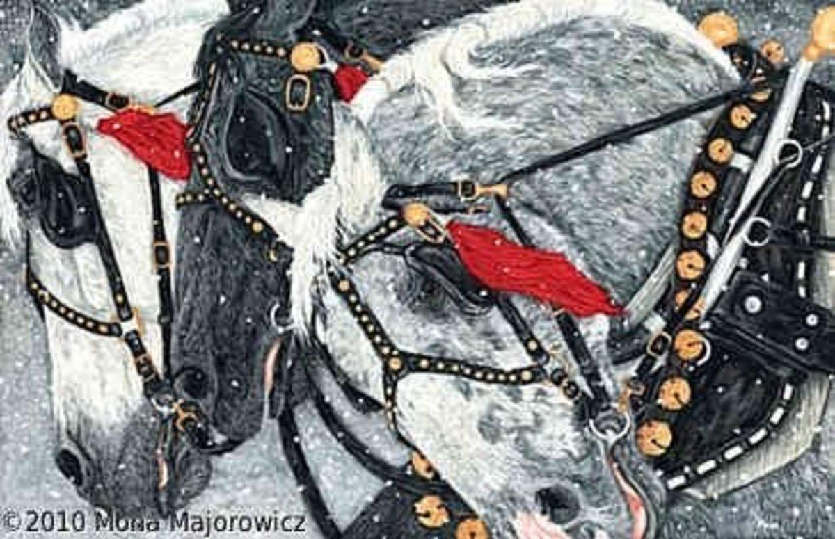 An original painting by Mona Majorowicz