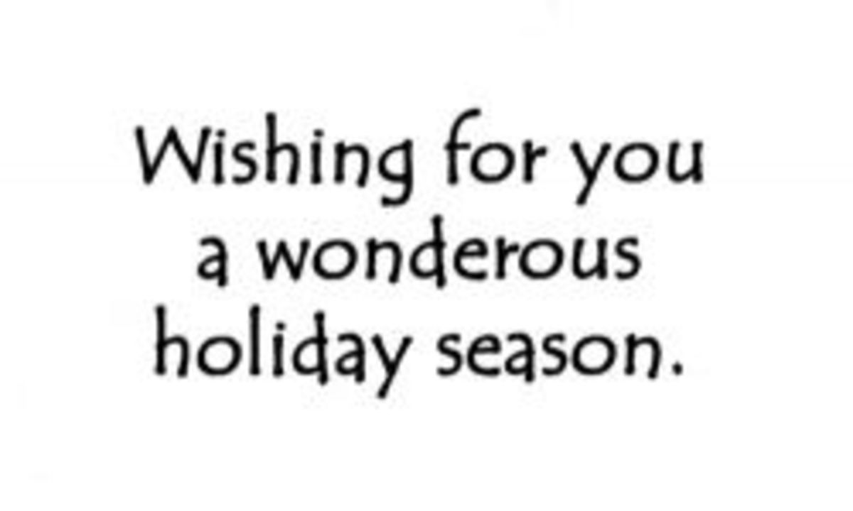 The actual message on the inside of our holiday greeting cards
