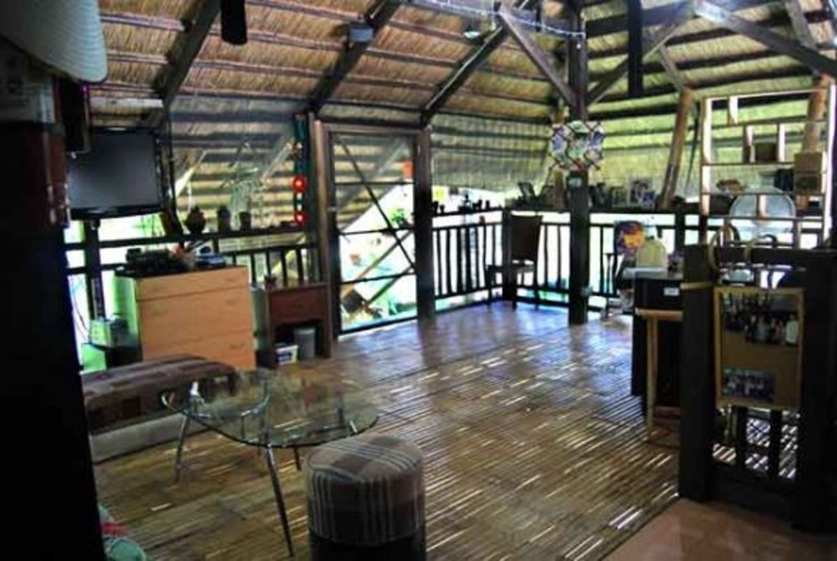 Bamboo floors on native deck