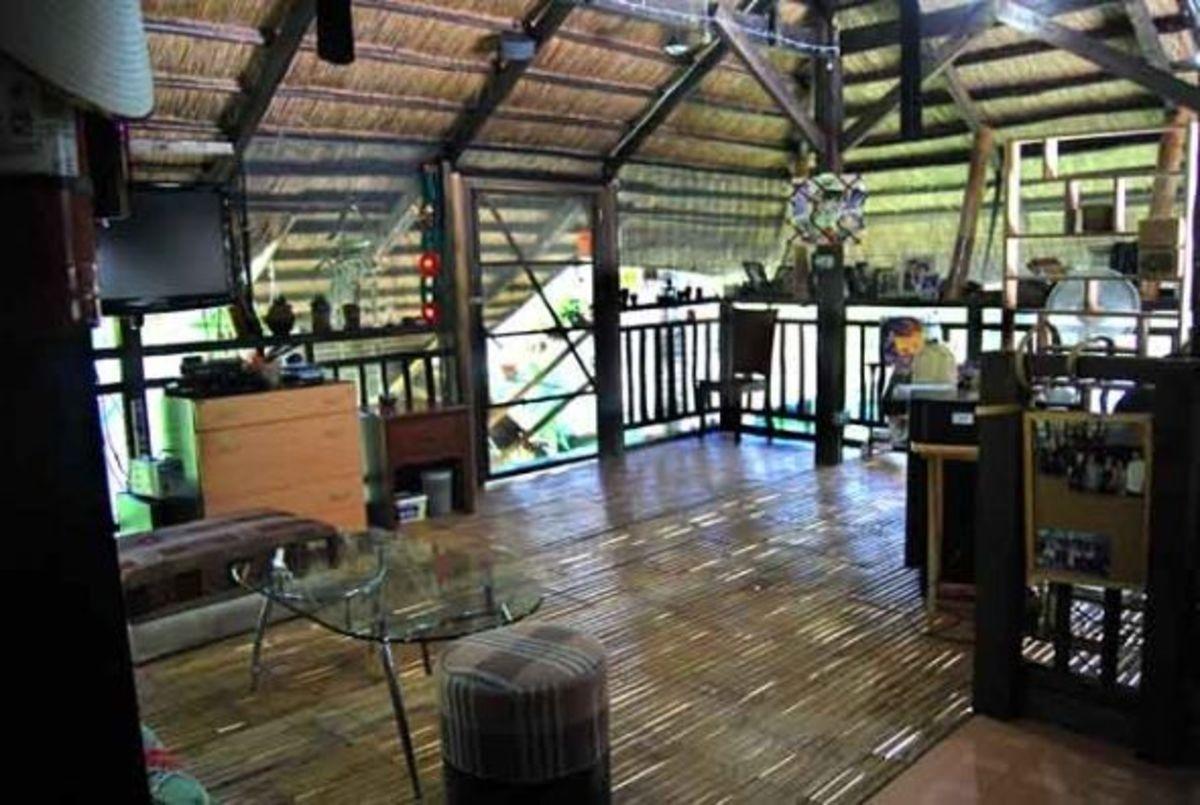 Bamboo floors on native deck