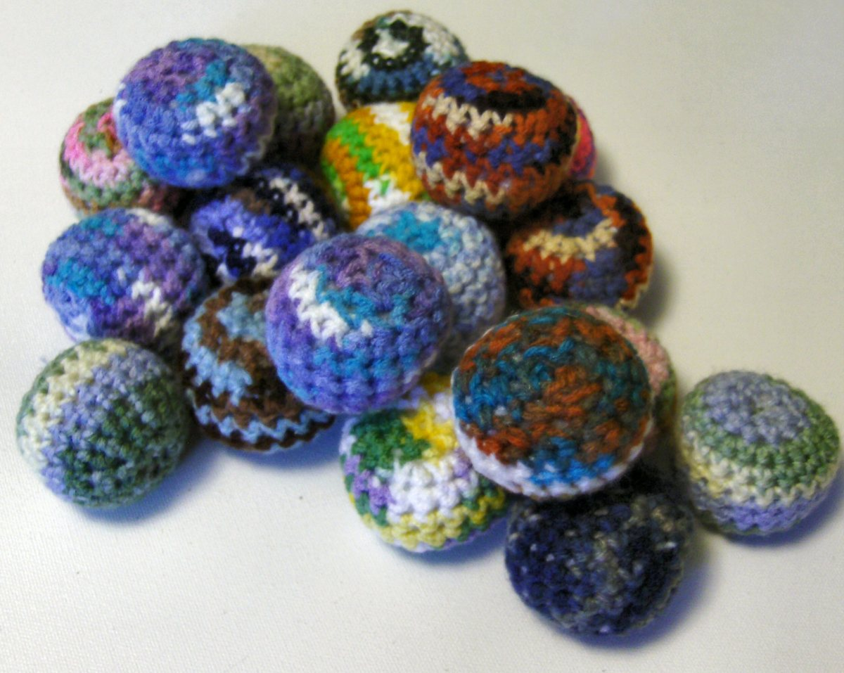 crocheted catnip toys