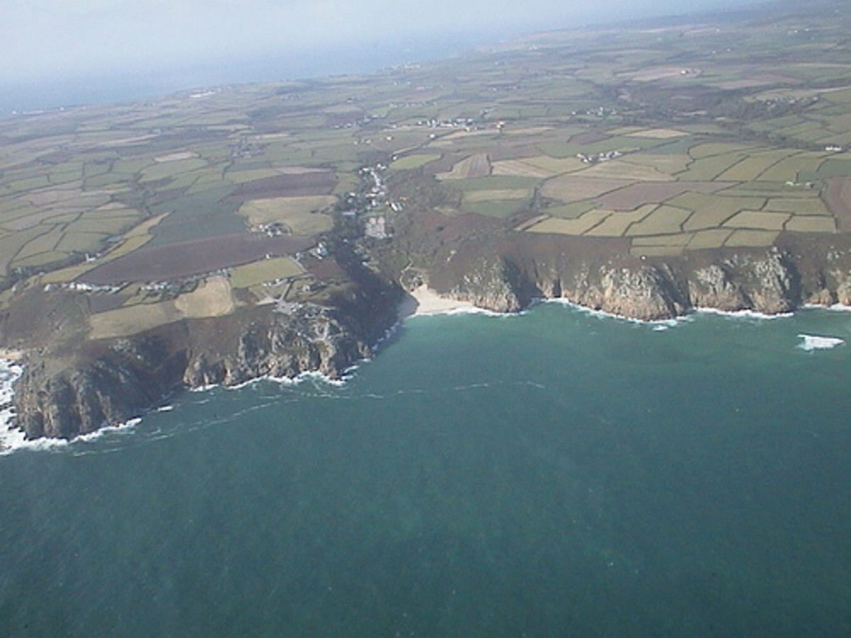 Places to Visit in Cornwall   Scilly Isles Aerial View