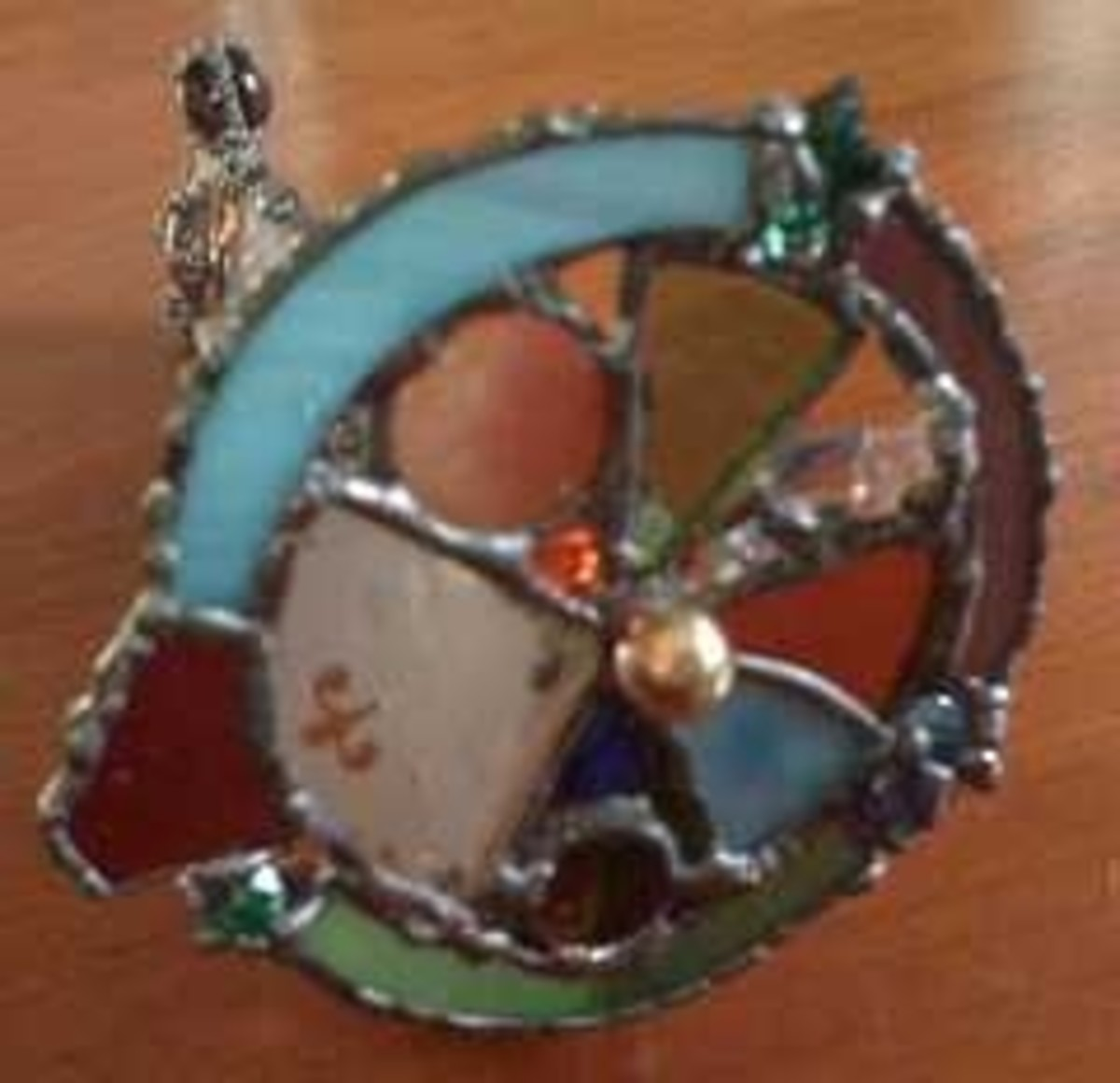 Stained glass kaleidoscope wheel