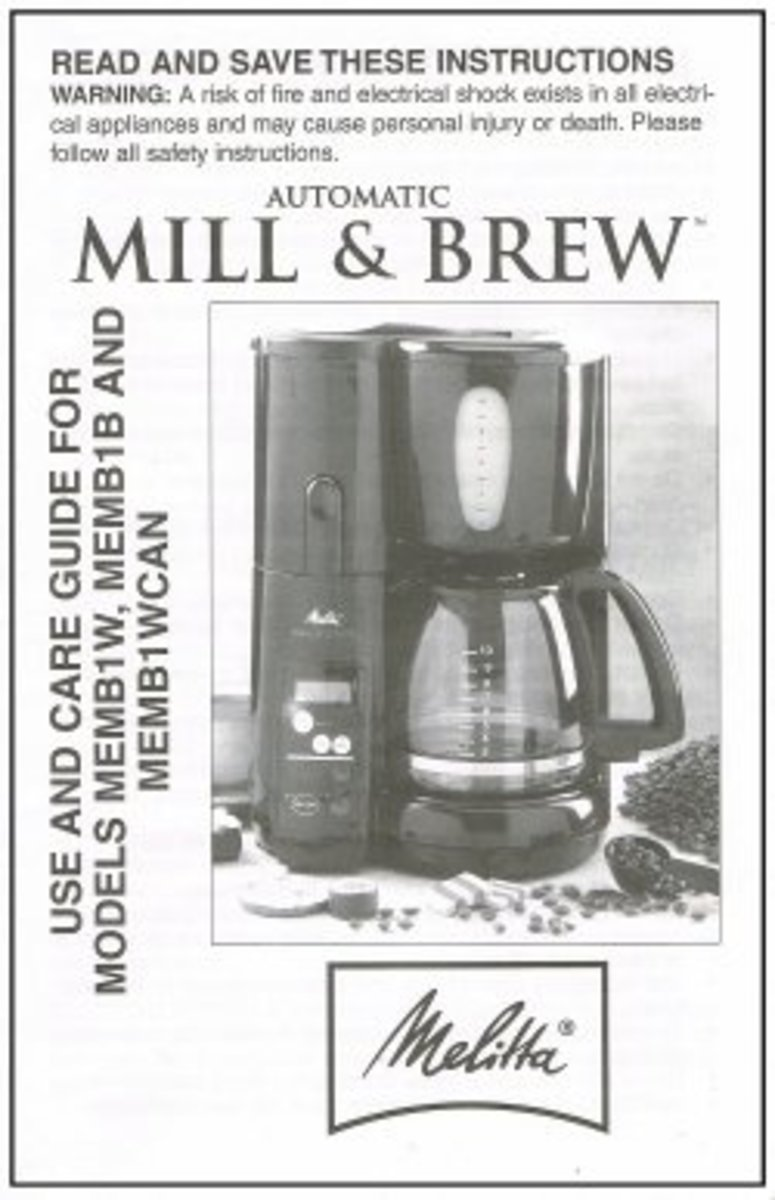 Instruction Manual Melitta Mill and Brew MEMB1W, MEMB1B, MEMB1WCAN