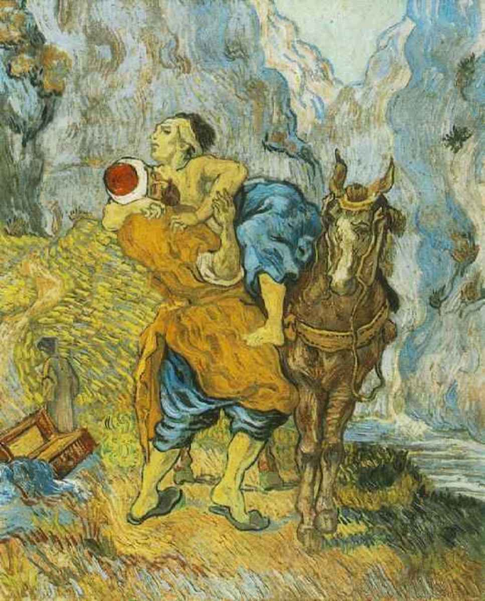 The Good Samaritan (after Delacroix), by Vincent Van Gogh