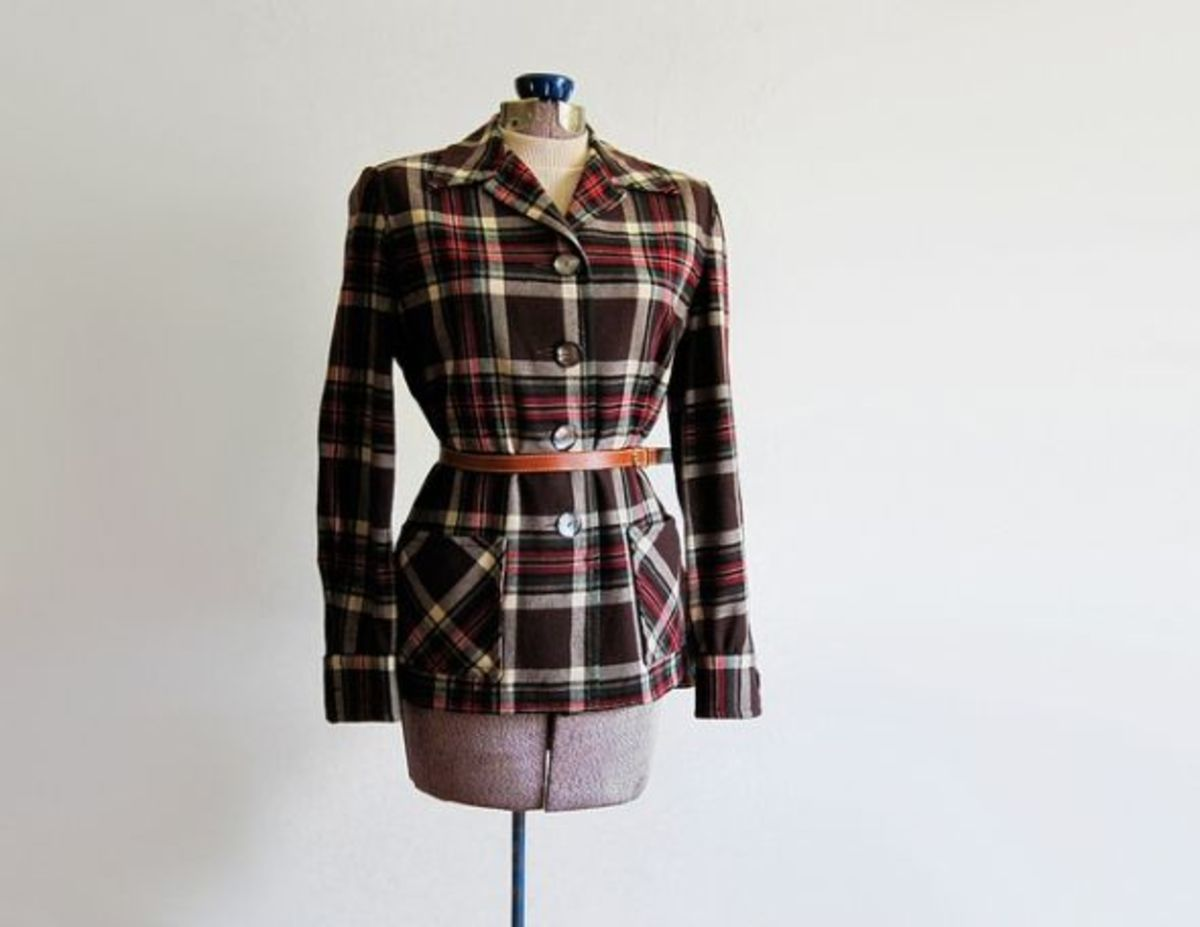 1940's Pendelton Plaid Womes Jacket