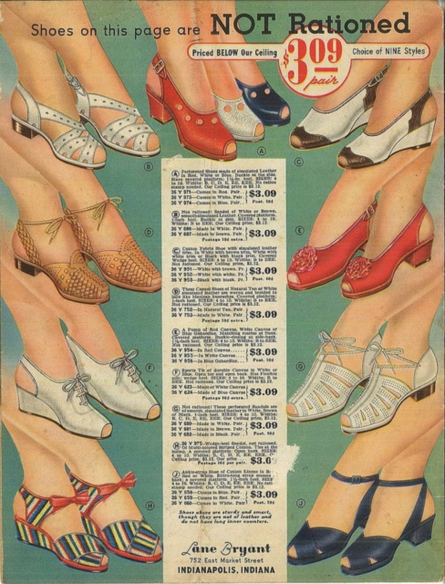 Shoes On This Page Are Not Rationed!  WWII advertisement for women's shoes