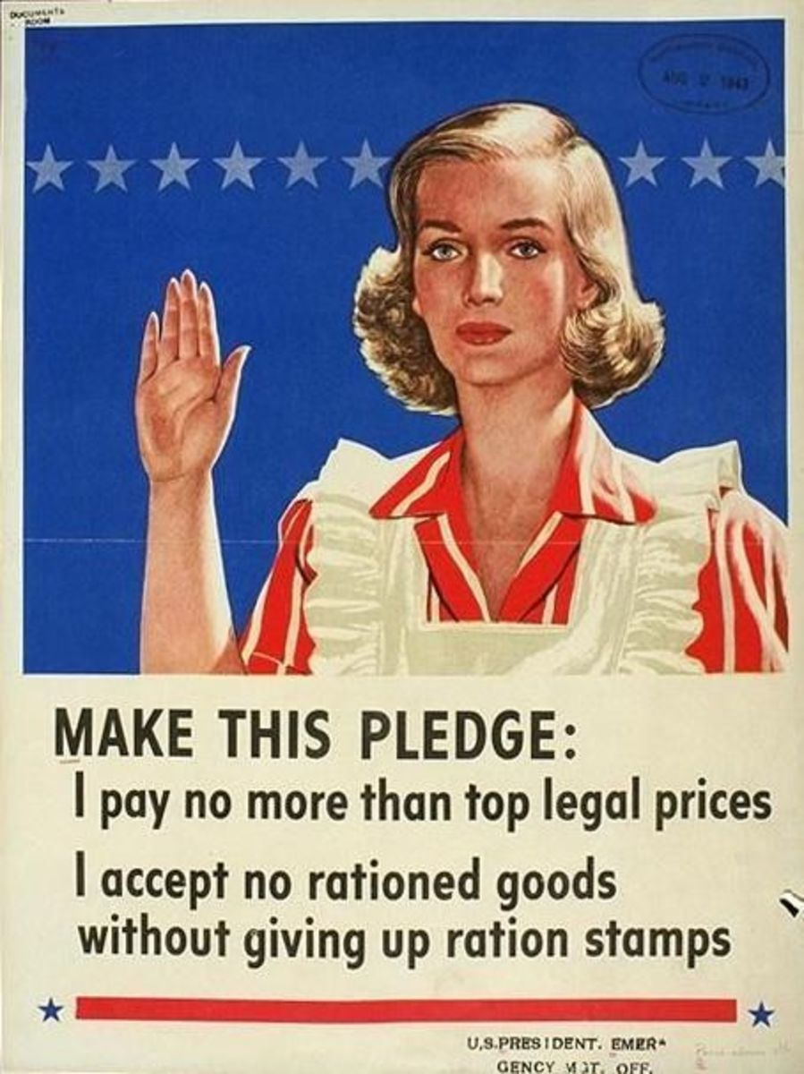 Make This Pledge: WWII Rationing Poster