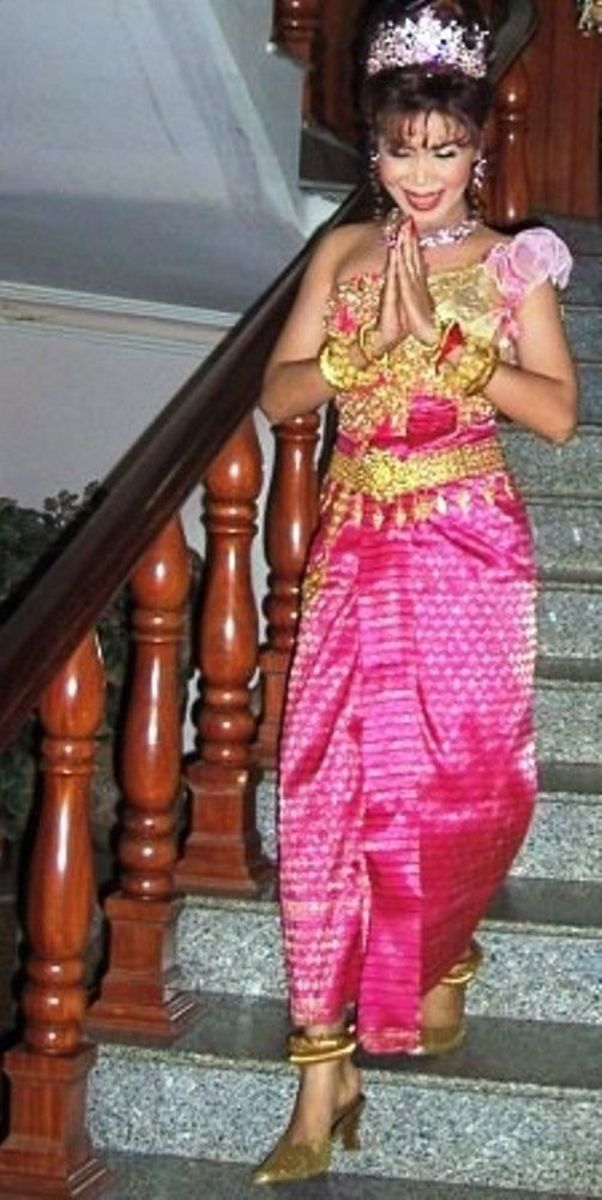 Cambodian Bride Doing Traditional Greeting