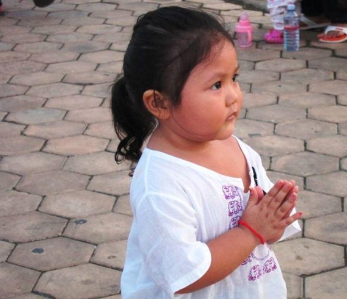 Little Girl Doing Sampeah