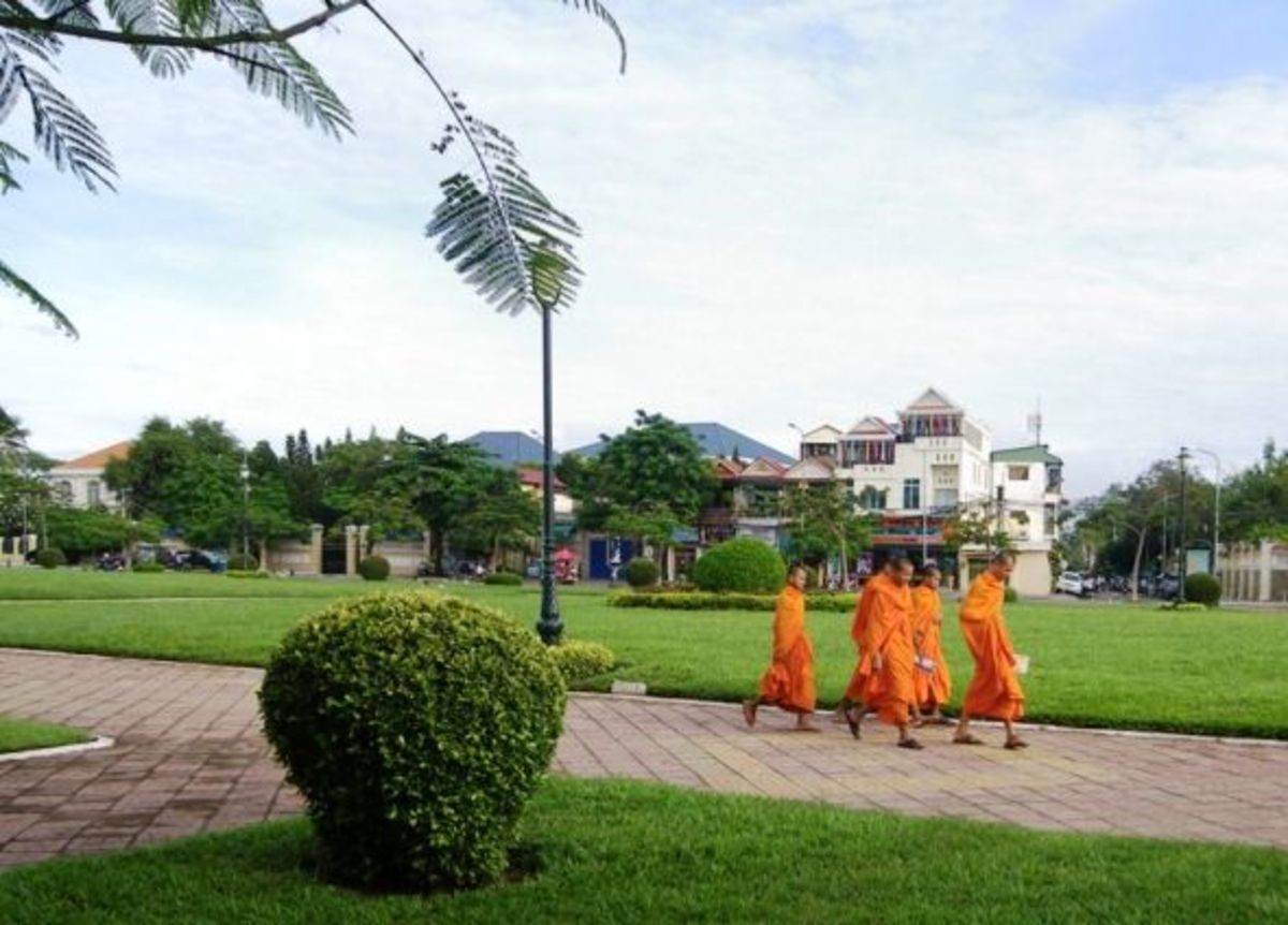 Monks in the Streets of Phnom Penh