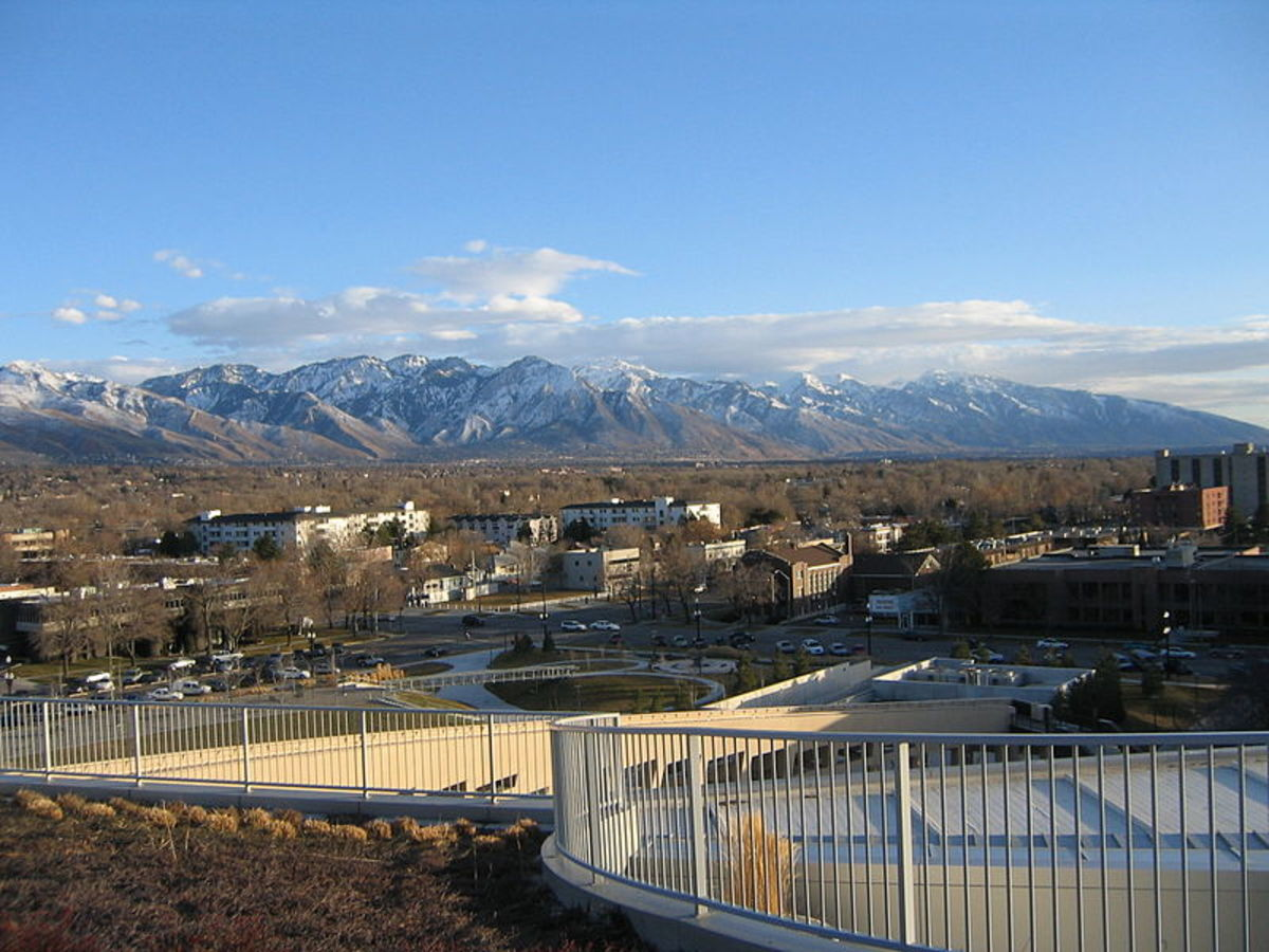 View of the Wasatch from Salt Lake City.