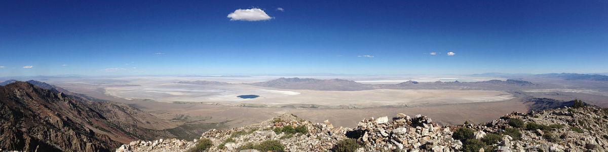 Great Salt Lake Desert in Utah - 80 miles of white salt, blistering hot days, freezing nights