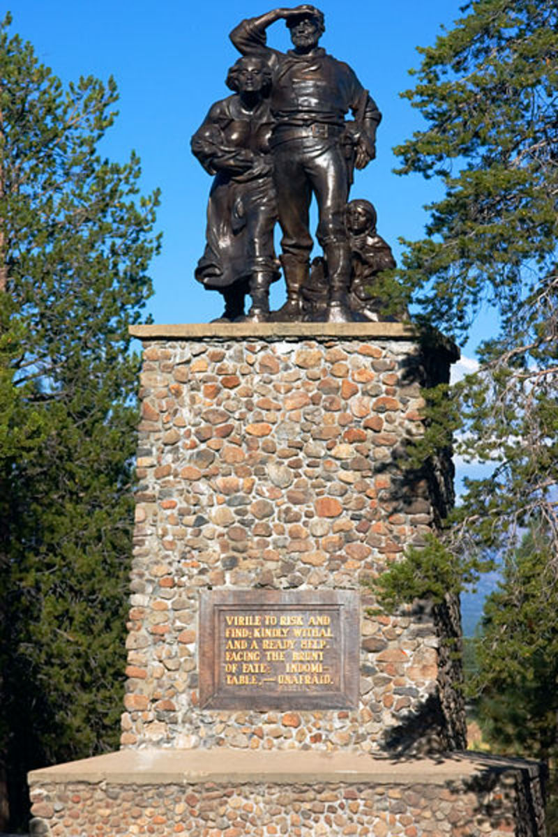 Donner Party Memorial at Donner Lake Memorial Park