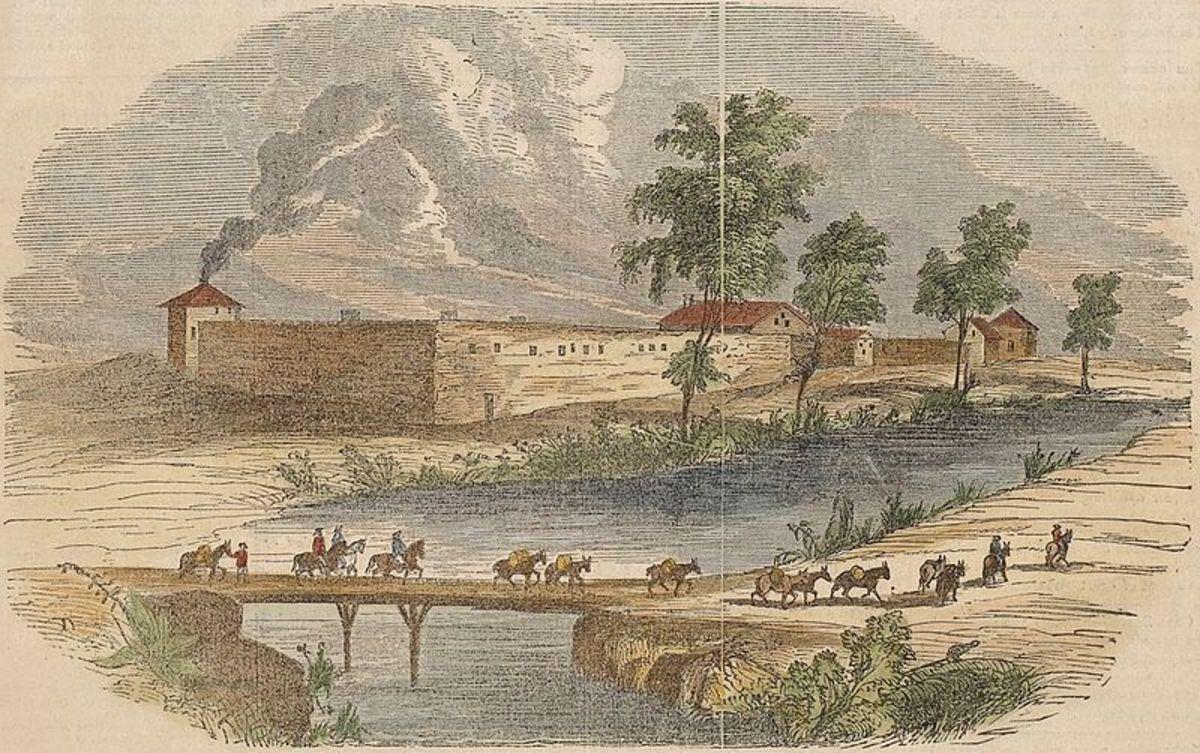 illustration of Sutter's Fort, , c. 1840