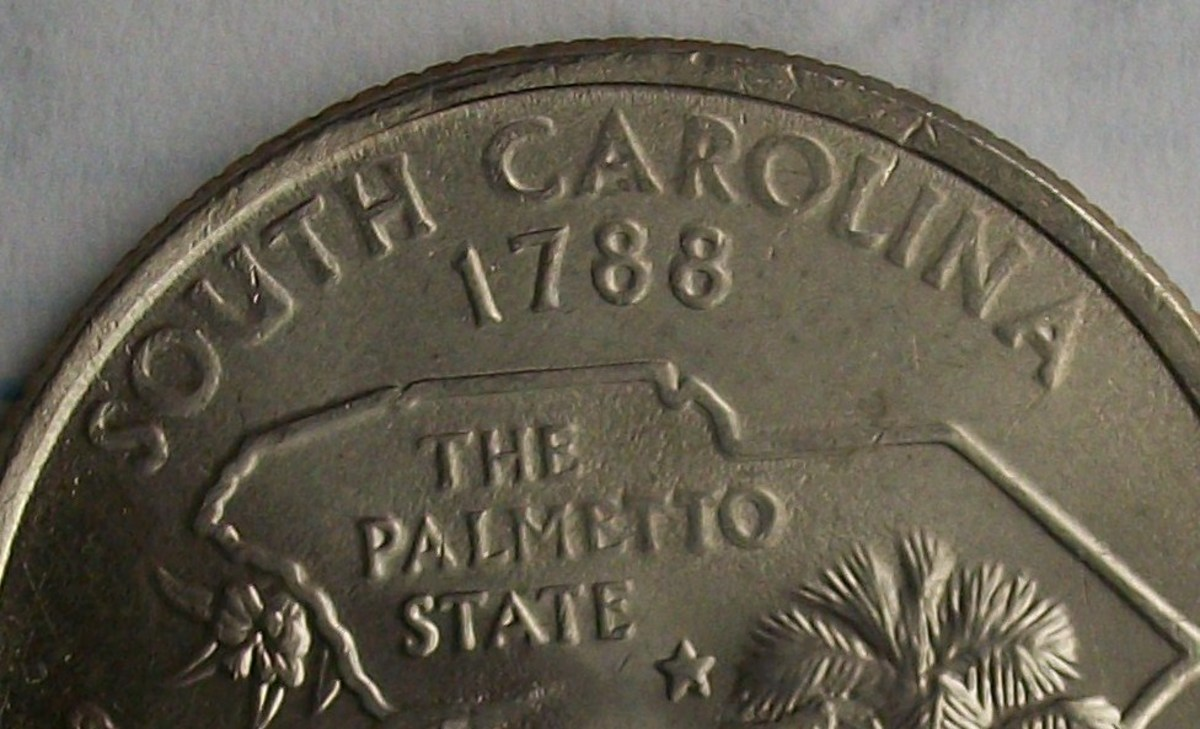 closeup of the doubling in the Palmetto area and just above on the state outline, also notice the doubling in the SOUTH CAROLINA making it look large.